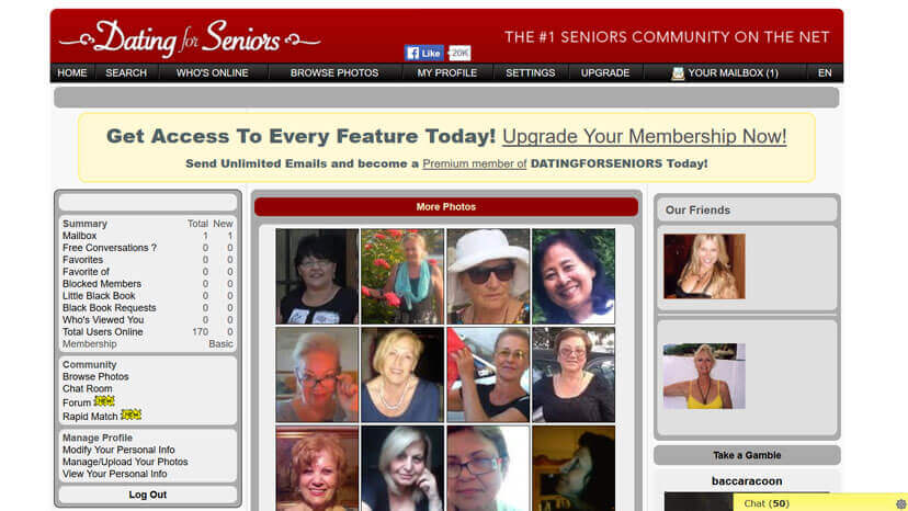 Free dating sites for seniors