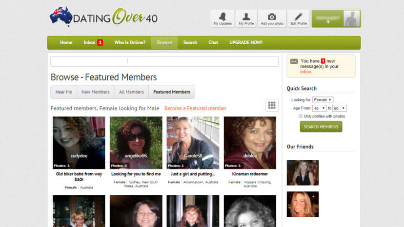 Dating site 40 over in Australia