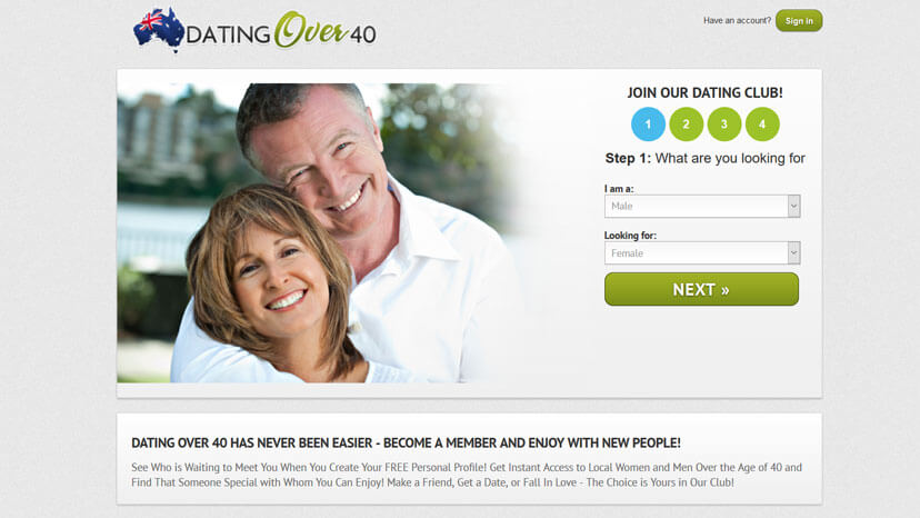Dating sites for over 40s uk