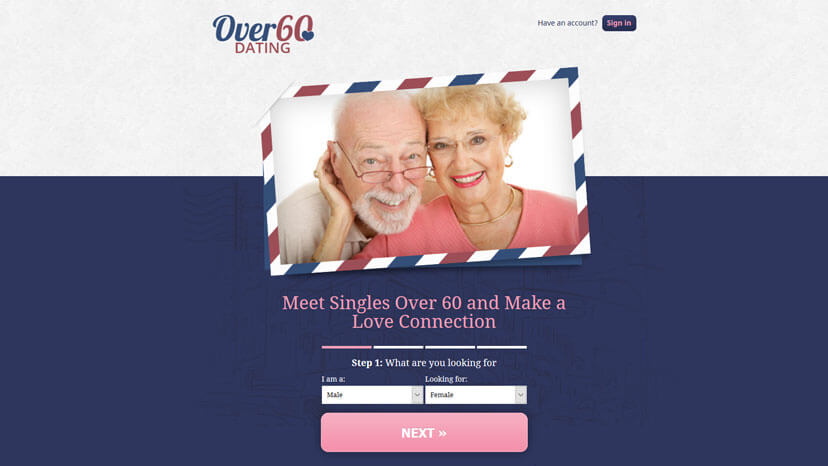 Over 60 dating service