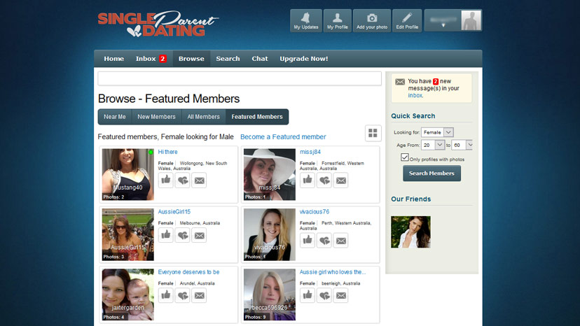 Free dating site for single parent