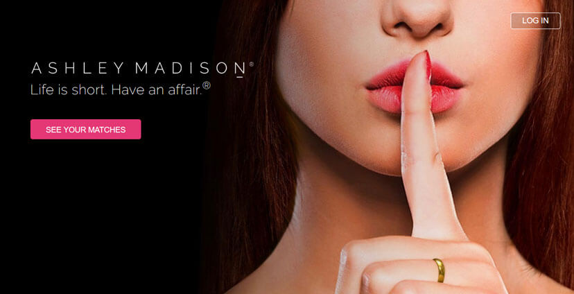 Ashley Madison homepage printscreen